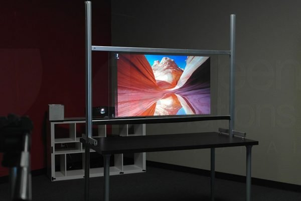 Definition PRO Projection Film in Action using Rear Projection