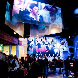 Holographic Rear Projection Screen at Nightclub