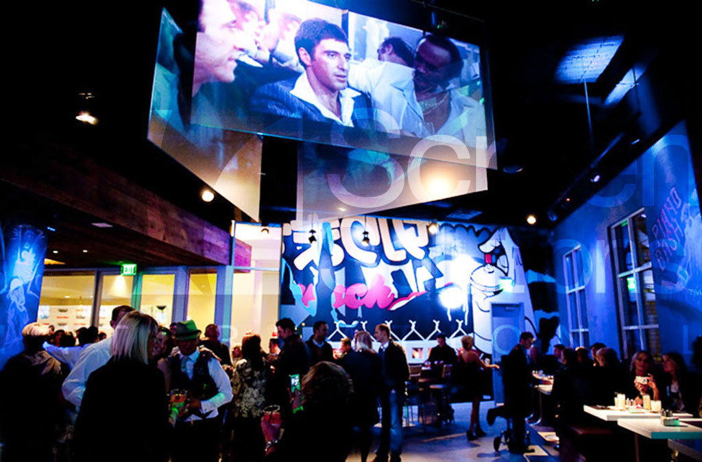 Intrigue Acrylic Rigid Projection Screen in Night Club