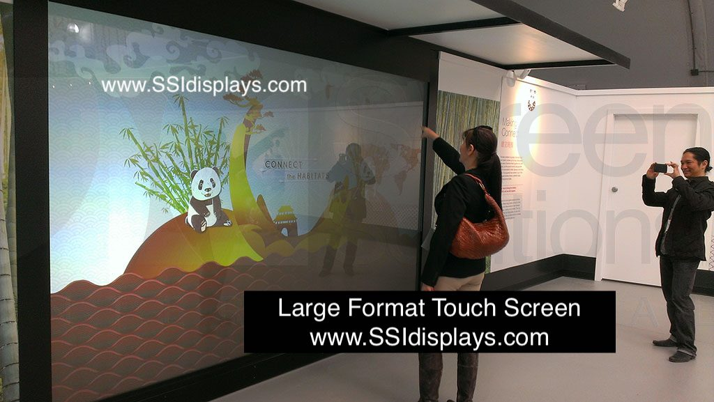 Large Format Touch Screen Display