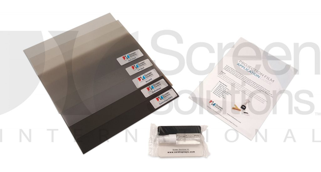 Rear Projection Film Sample Kit with Application Guide and App Fluid and Squeegee