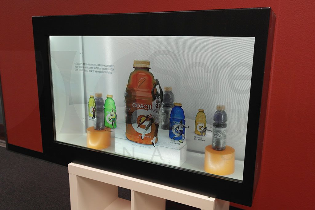 Gatorade Transparent LCD Product Display Case