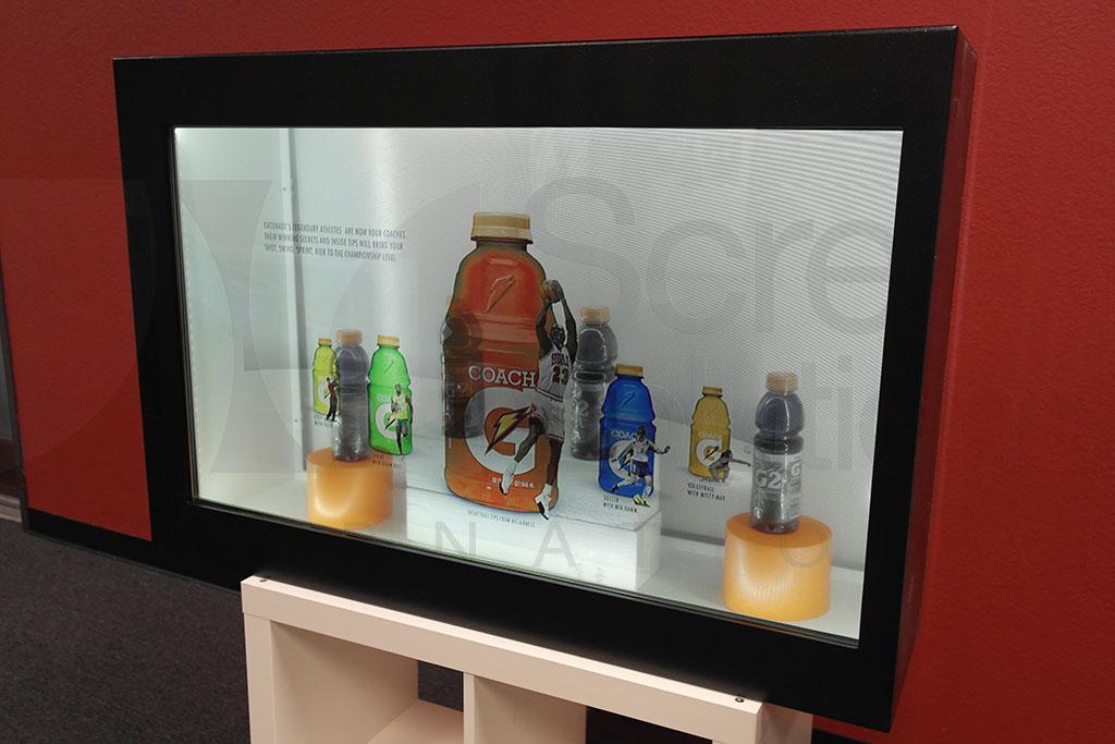 Transparent LCD Panel Display Case - Gatorade
