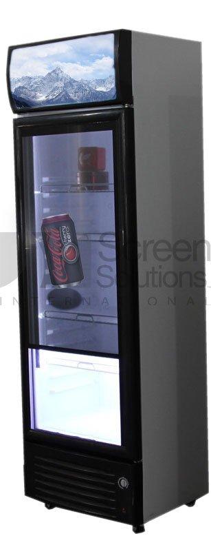 Transparent LCD fridge