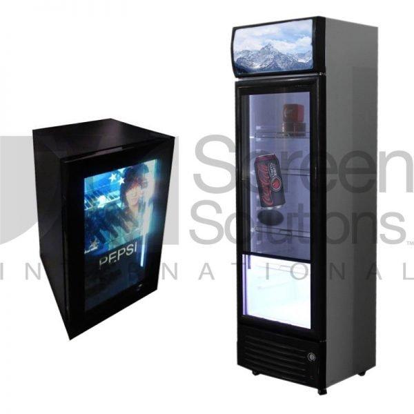 Transparent LCD fridges